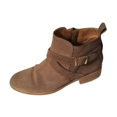 Bottines & low boots plates COSMOPARIS Beige, camel