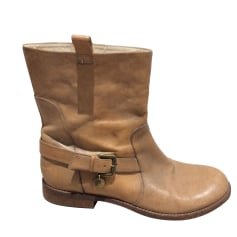 Bottines & low boots plates PATRIZIA PEPE Camel