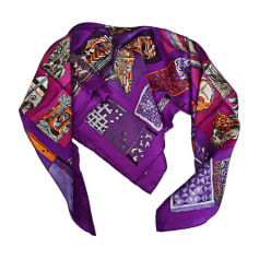 Echarpes   Foulards Hermès Femme Violet, mauve, lavande   articles ... 794f172286b