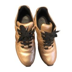 Baskets Femme Doré, bronze, cuivre de marque   luxe pas cher ... 756b5c2a419