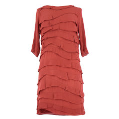 Robe mi-longue SANDRO Rouge, bordeaux