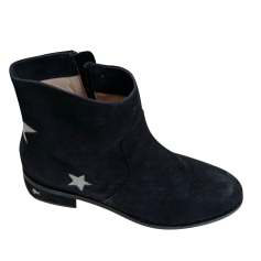 Flat Ankle Boots MELLOW YELLOW Black