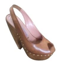 Wedge Sandals GIANMARCO LORENZI Camel