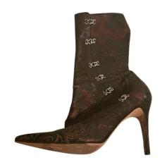 Bottines & low boots à talons JOHN GALLIANO Marron