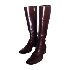 Flat Boots SANTONI Brown