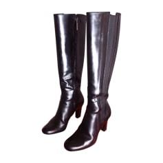 Stivali con tacchi SANTONI Nero
