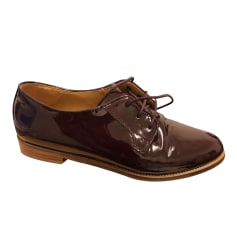 Lace Up Shoes BOBBIES Red, burgundy