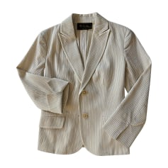 Jacket LORO PIANA White, off-white, ecru