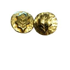 Earrings INÈS DE LA FRESSANGE Golden, bronze, copper