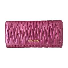 Wallet MIU MIU Pink, fuchsia, light pink