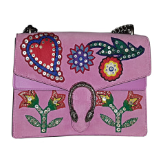 Leather Handbag GUCCI Dionysus Pink, fuchsia, light pink