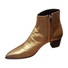 Santiags, bottines, low boots cowboy BARBARA BUI Doré, bronze, cuivre
