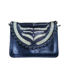 Leather Shoulder Bag SANDRO Blue, navy, turquoise