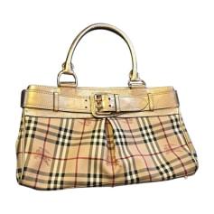 Leather Handbag BURBERRY Beige, camel