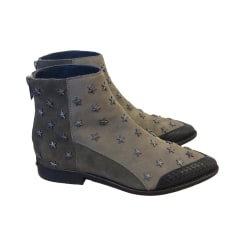 Flat Ankle Boots ZADIG & VOLTAIRE Gray, charcoal