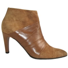 High Heel Ankle Boots FREE LANCE Brown