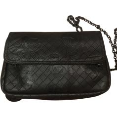 Leather Shoulder Bag BOTTEGA VENETA Black