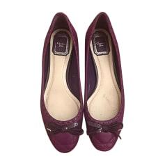 Ballerinas DIOR Violett, malvenfarben, lavendelfarben