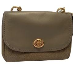 Leather Shoulder Bag COACH Taupe