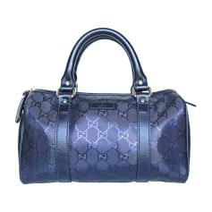 Leather Handbag GUCCI Boston Purple, mauve, lavender
