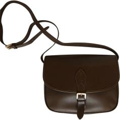 Leather Shoulder Bag YVES SAINT LAURENT Brown