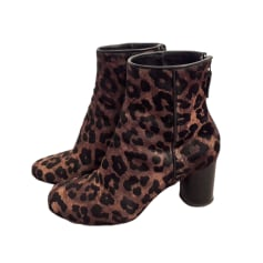 High Heel Ankle Boots SANDRO Brown