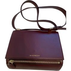 Leather Shoulder Bag GIVENCHY Red, burgundy