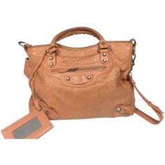 Leather Handbag BALENCIAGA Peach