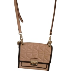 Leather Shoulder Bag KARL LAGERFELD Pink, fuchsia, light pink