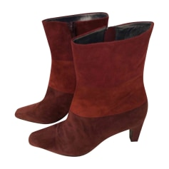 High Heel Ankle Boots MICHAEL KORS Red, burgundy