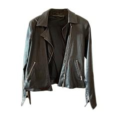 Leather Zipped Jacket VENTCOUVERT Black