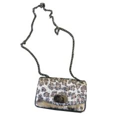 Leather Shoulder Bag ZADIG & VOLTAIRE Cuir argent et motif strass léopard