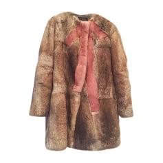 Fur Coat PAULE KA Beige, camel