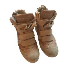 Bottines & low boots plates SERAFINI Beige, camel