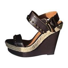 Sandales compensées CALVIN KLEIN Marron