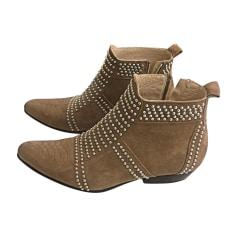 Bottines & low boots plates ANINE BING Beige, camel