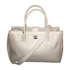 Leather Handbag CHANEL White, off-white, ecru