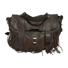 Leather Handbag PROENZA SCHOULER Gray, charcoal