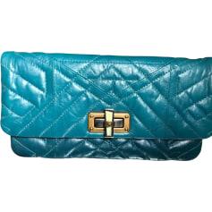 Leather Handbag LANVIN Blue, navy, turquoise
