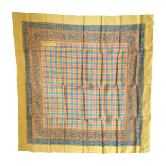 Silk Scarf VERSACE Ocre,Turquoise