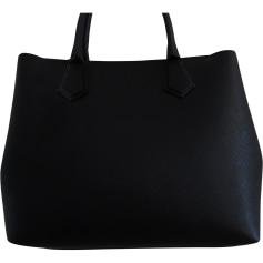Leather Handbag KARL LAGERFELD Black