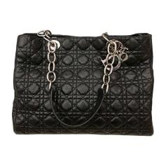 Leather Oversize Bag DIOR Black