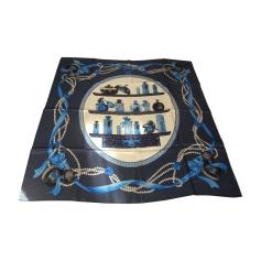 Silk Scarf LANVIN Blue, navy, turquoise