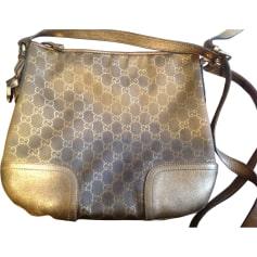 Non-Leather Shoulder Bag GUCCI Beige, camel