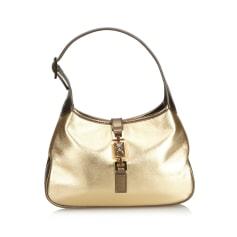 Leather Shoulder Bag GUCCI Gold