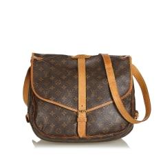 Leather Shoulder Bag LOUIS VUITTON Brown