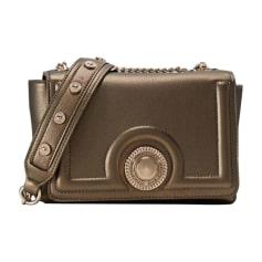 Leather Shoulder Bag VERSUS VERSACE Golden, bronze, copper