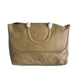 Leather Shoulder Bag LAMARTHE Beige, camel