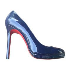Chaussures Christian Bleu Louboutin Marine Femme Bleu qfvwzARq