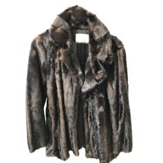 Manteau veste fourrure